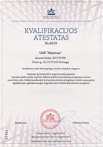Imones_kvalifikacijos Atestatas ypatingo statinio statybos rangovas
