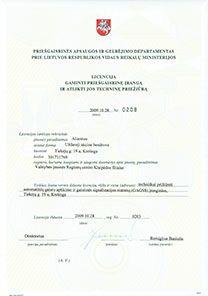 Prisegaisrine_Licencija priesgaisrines irangos gaminimas ir technine prieziura
